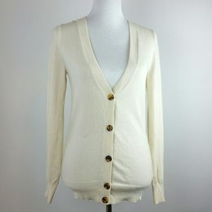 J crew v neck button down cardigan size small